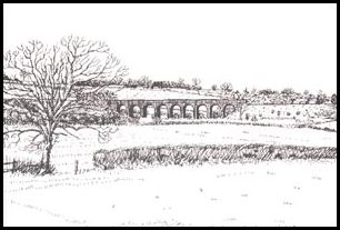 The Viaduct - Drawing by Bob Wallis